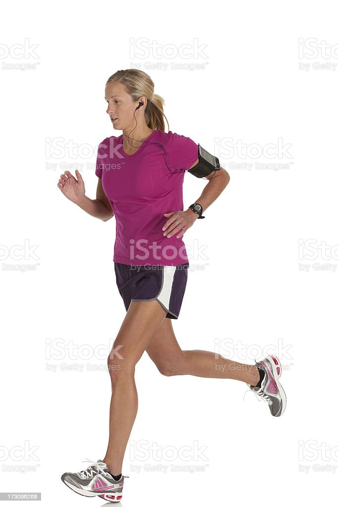 Female athlete running royalty-free stock photo