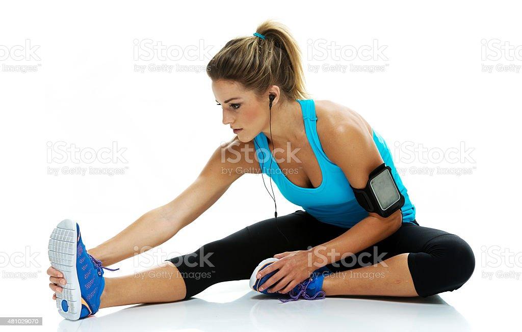 Weibliche Athleten Dehnen – Foto