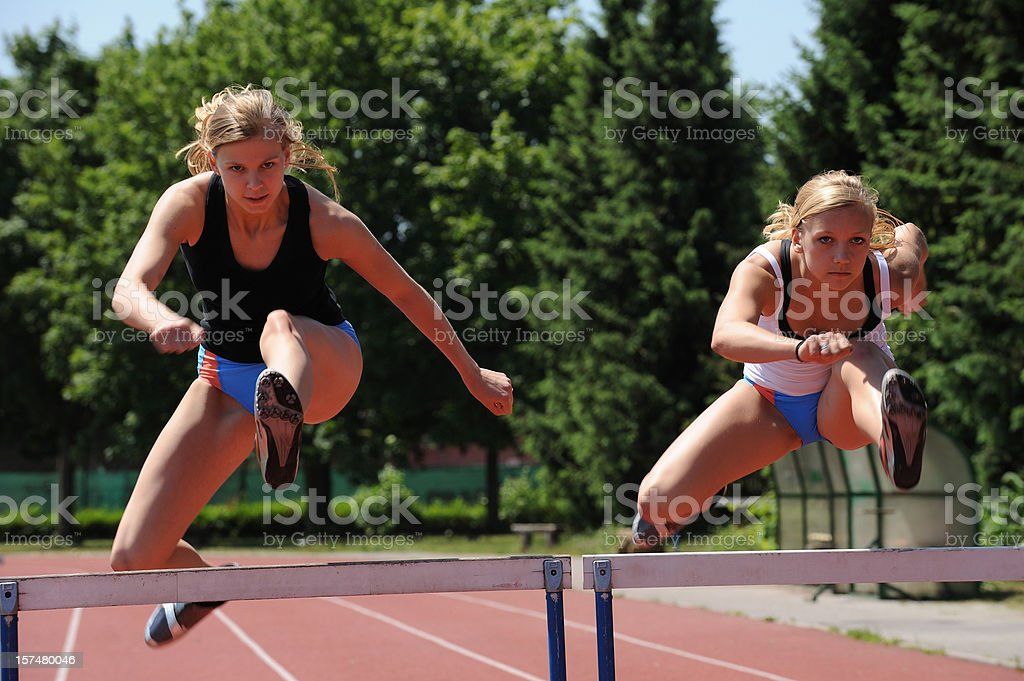 Female athletes royalty-free stock photo