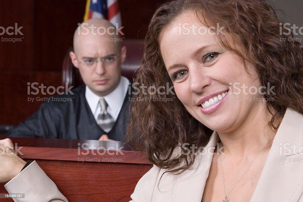 Female Attorney-happy royalty-free stock photo