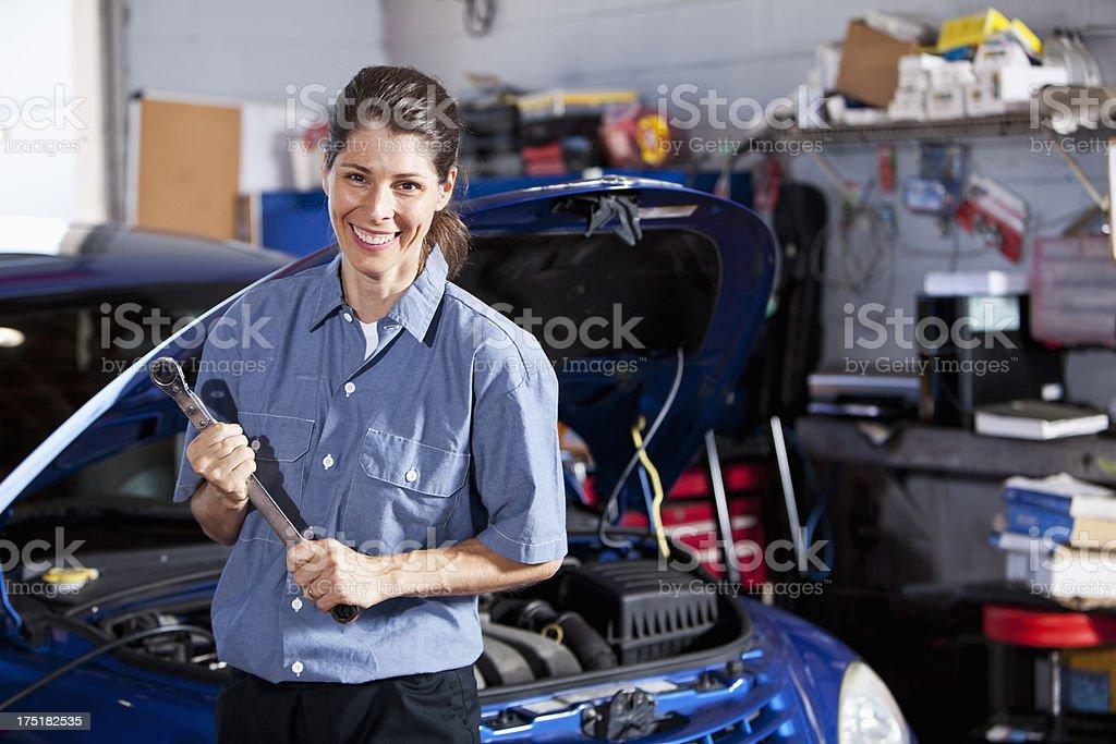 Female auto mechanic royalty-free stock photo