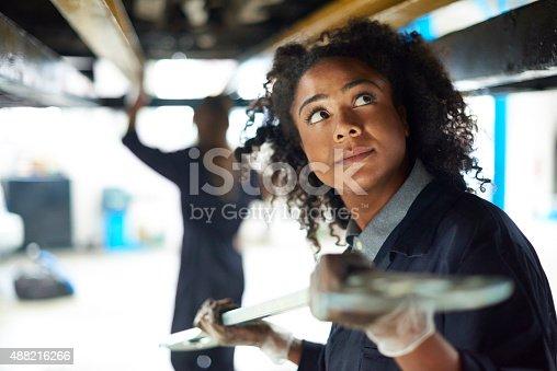 599909112 istock photo female auto mechanic 488216266