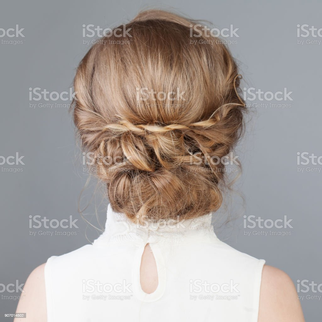 Female Back Bridal Or Prom Hairstyle Stock Photo - Download Image Now -  iStock
