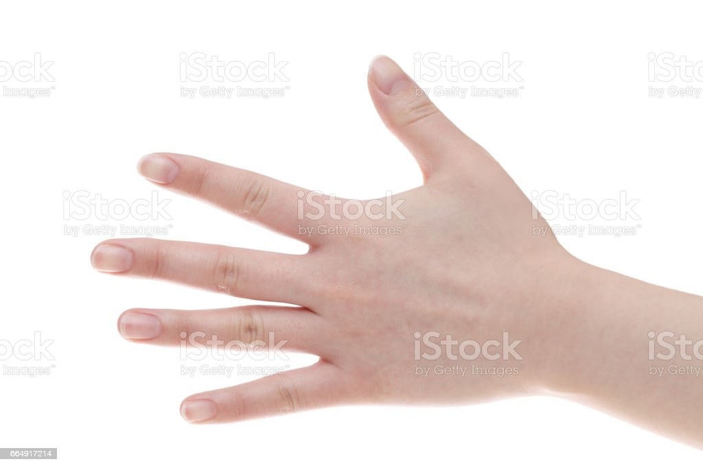Female back hands closeup foto stock royalty-free