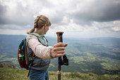 istock Female backpacker 1255386988