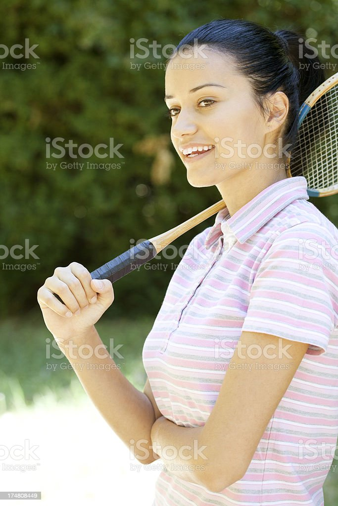 female badminton player royalty-free stock photo
