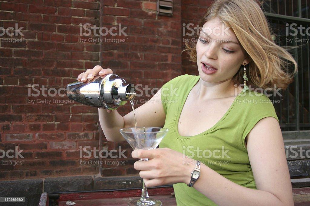 Female Bartender stock photo