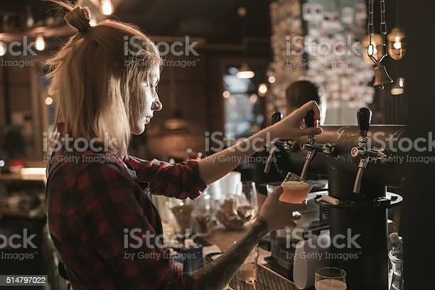 Female bartender pouring beer from tap at bar picture id514797022?b=1&k=6&m=514797022&s=612x612&h=yfaw7cditqv2ut1tv2n5tk1xfvfnxwxbxul jactktk=