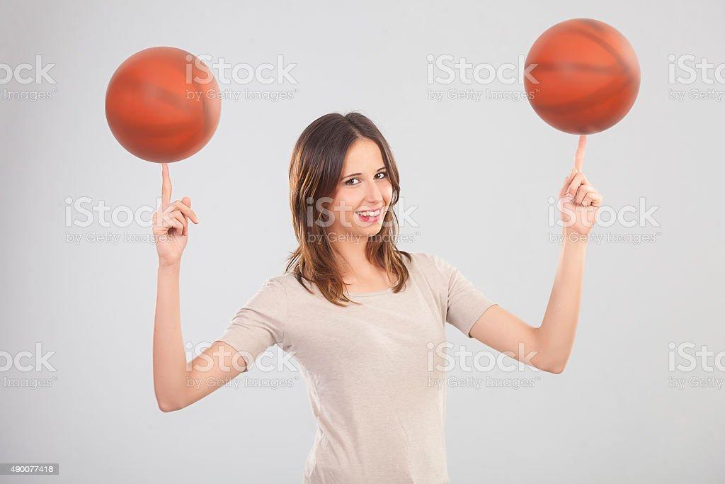Femme Joueur de Basketball - Photo