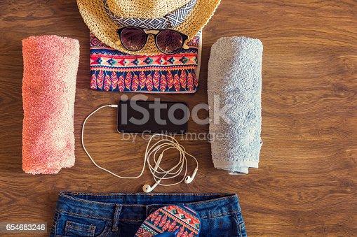 654680306 istock photo Female beach accessories 654683246