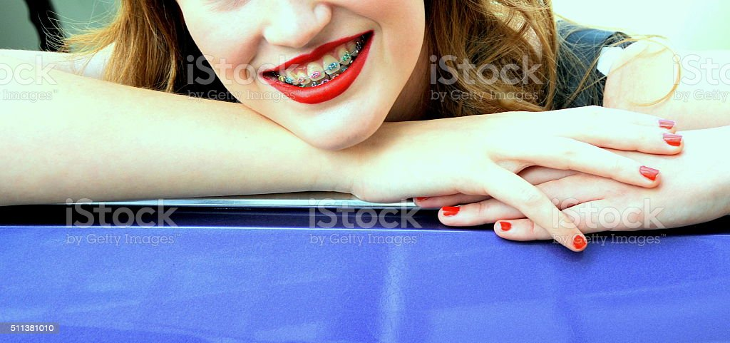 Female beauty expressions. stock photo
