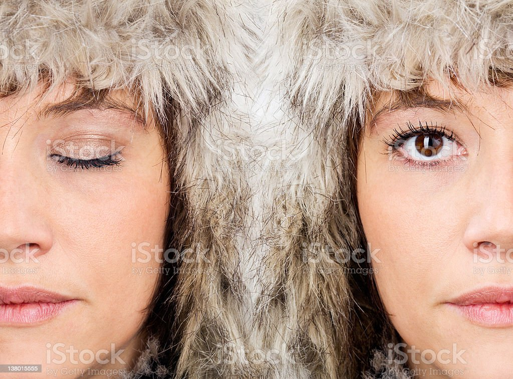 Female beauty faces royalty-free stock photo
