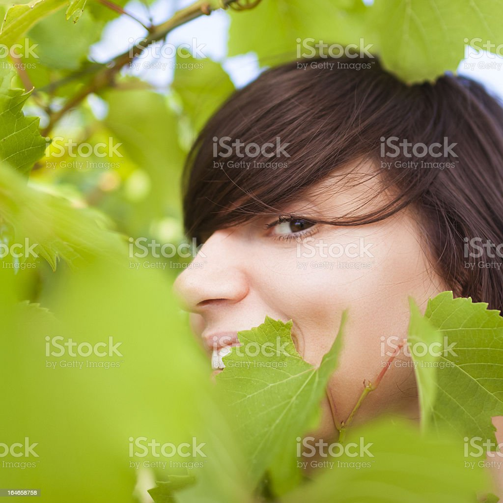 Female beauty in Nature royalty-free stock photo
