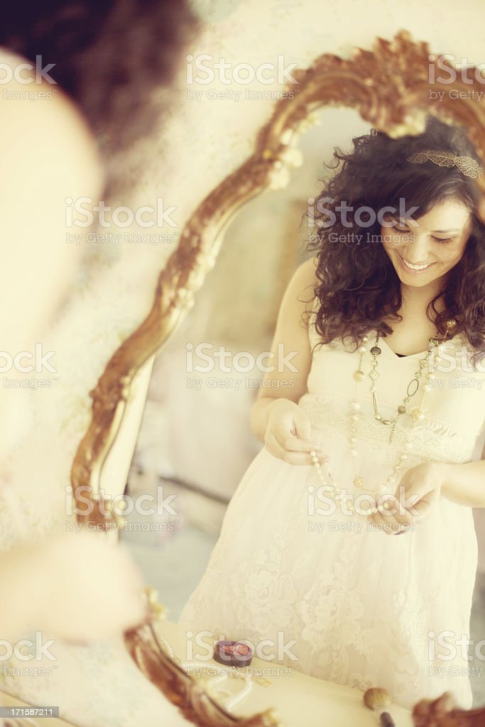 female beauty vintage happiness stock photo