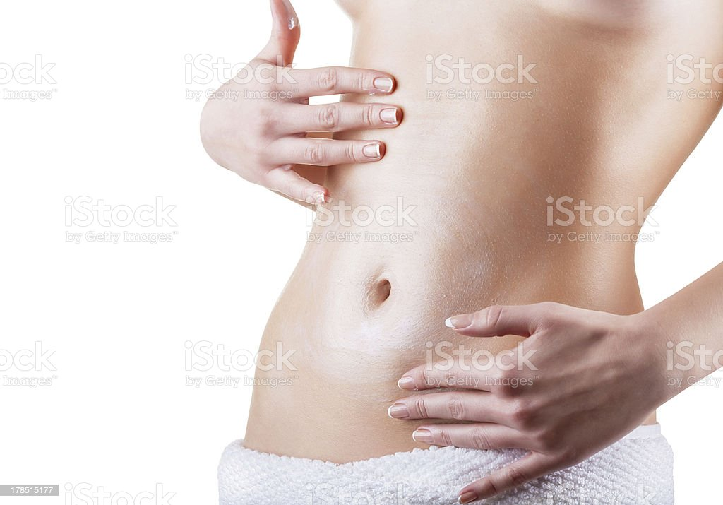Female belly stock photo