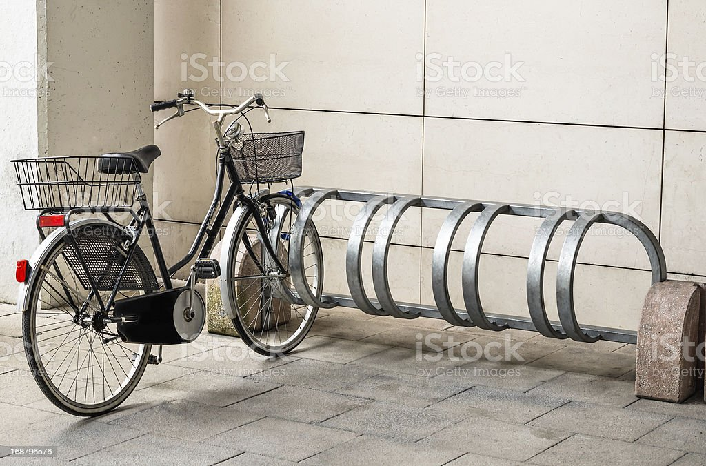 Female Bicycle ready for Use royalty-free stock photo