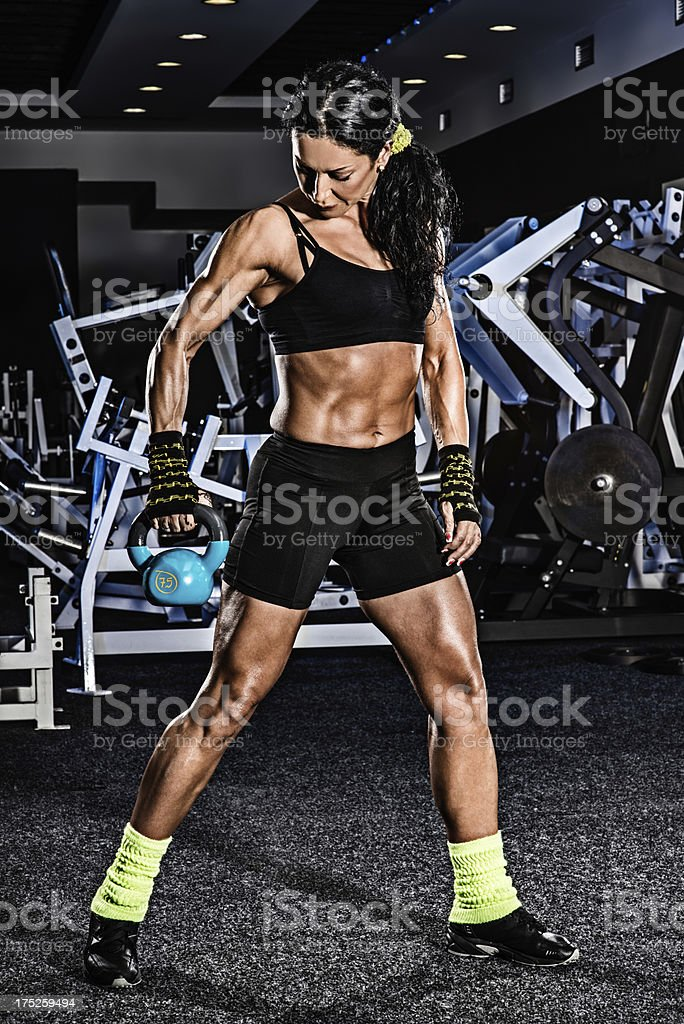 Female bodybuilder royalty-free stock photo