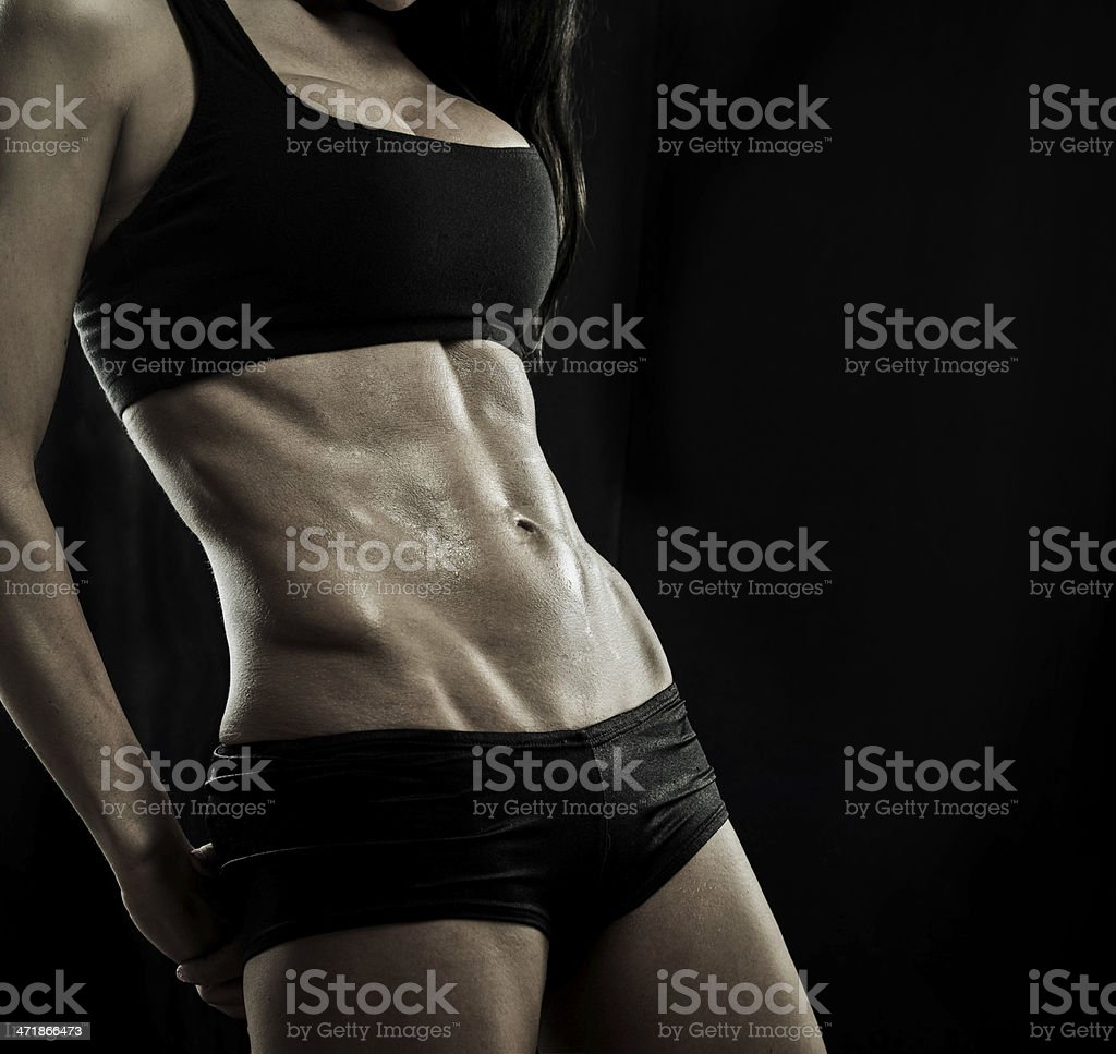 female bodybuilders abs royalty-free stock photo
