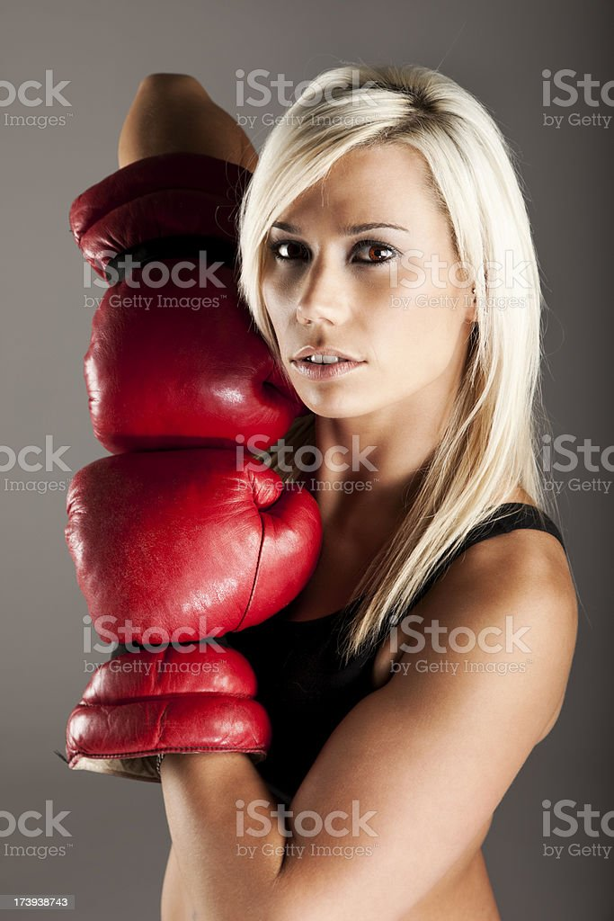 Female Boxer royalty-free stock photo