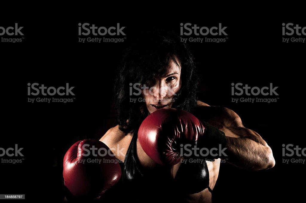 Female Boxer royalty-free stock photo