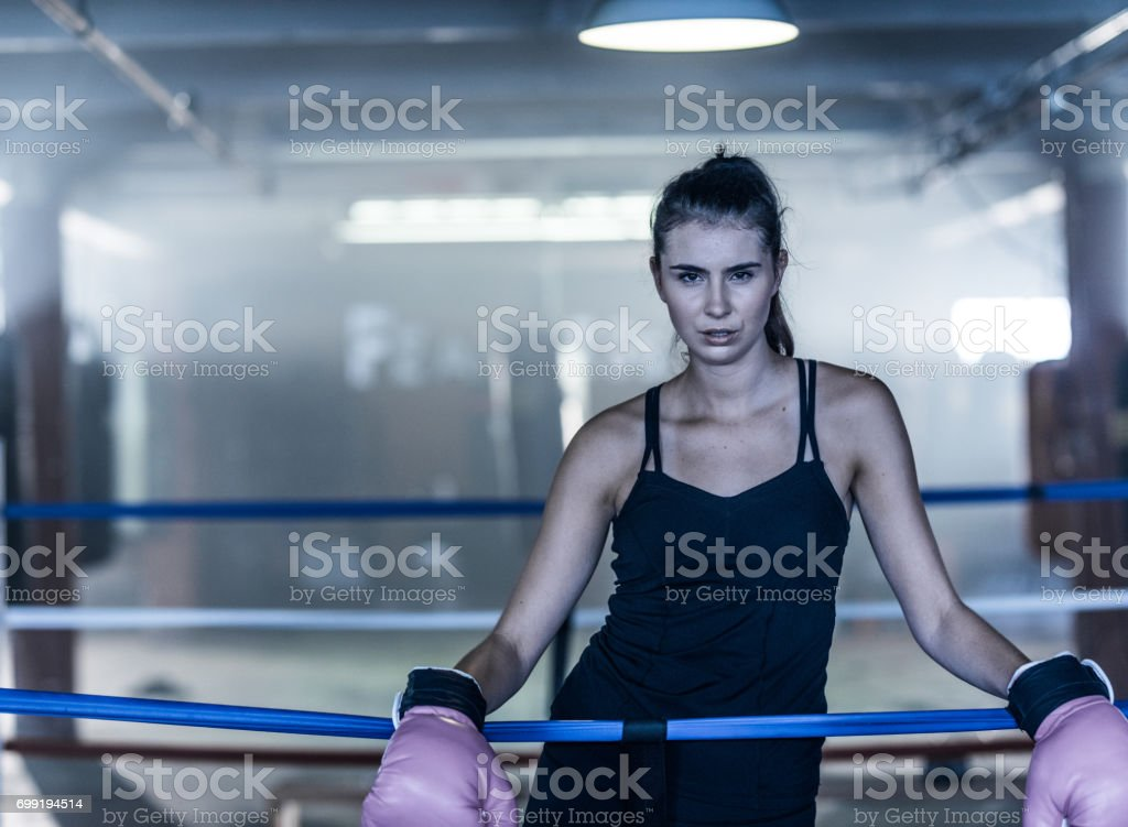 Backlit in a boxing warehouse