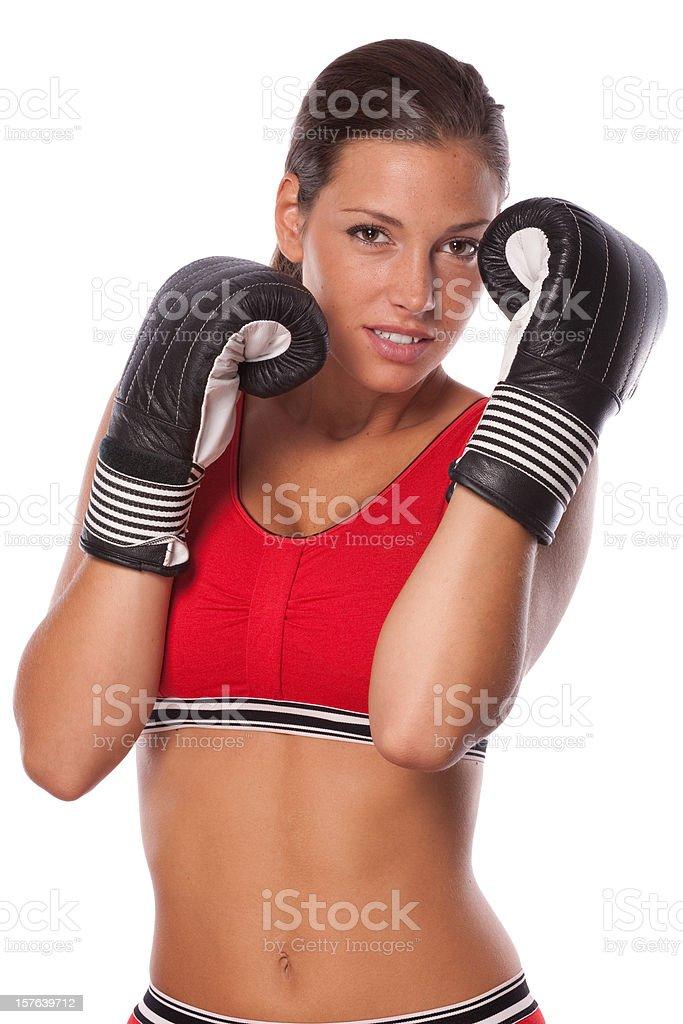 Female boxing stock photo
