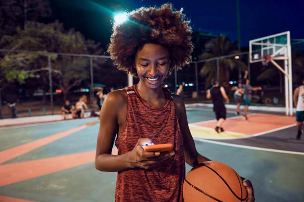 Female brazilian basketball player stock photo