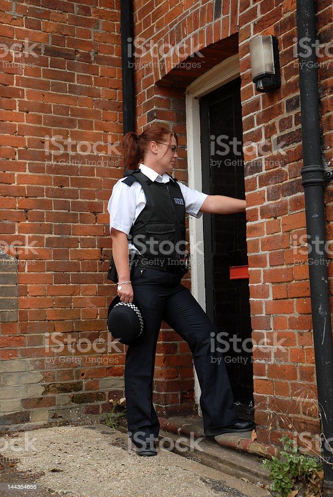 Female British Police Officer stock photo