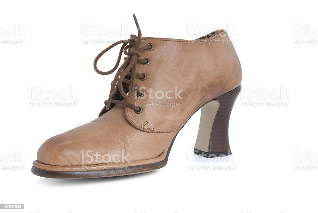 Female brown boot royalty-free stock photo
