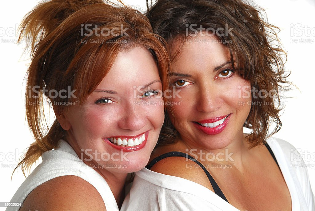 Female Brunette & Redhead royalty-free stock photo