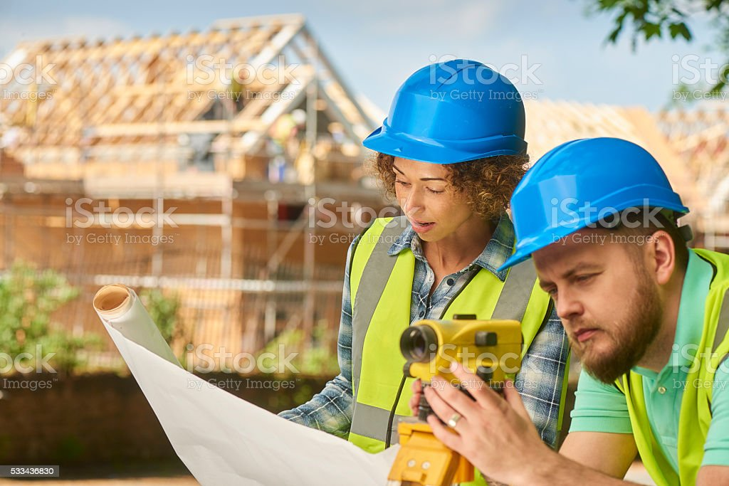 Female Building Surveyor Stock Photo - Download Image Now ...