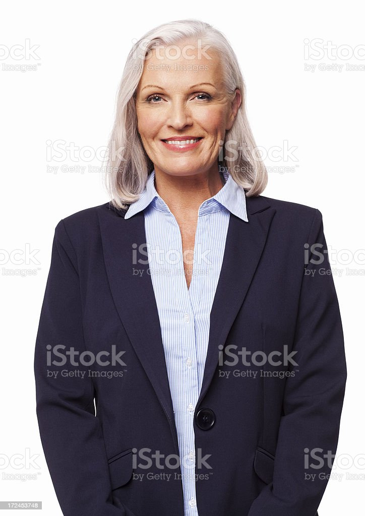 Female Business Executive Smiling - Isolated royalty-free stock photo