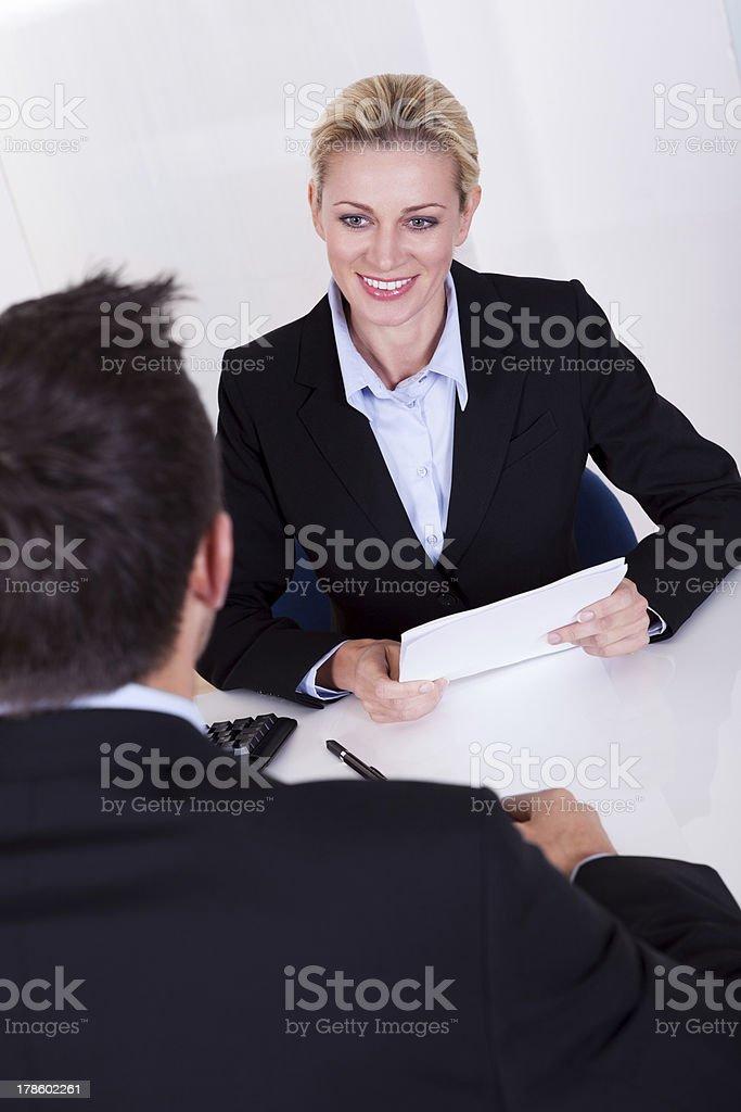Female business executive smiling royalty-free stock photo