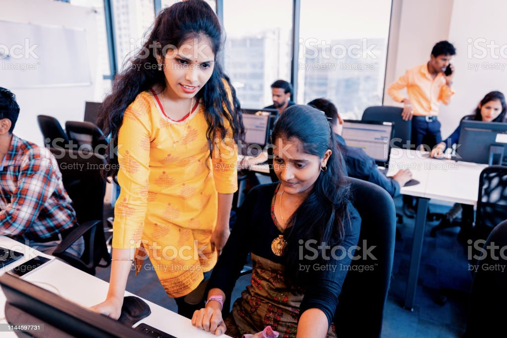 Corporate Business, Indian, Office - Business Executives having a...