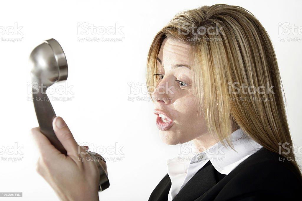 Donna di affari telefono 4-isolato foto stock royalty-free
