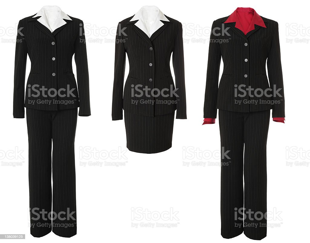 Female business suits set | Isolated stock photo