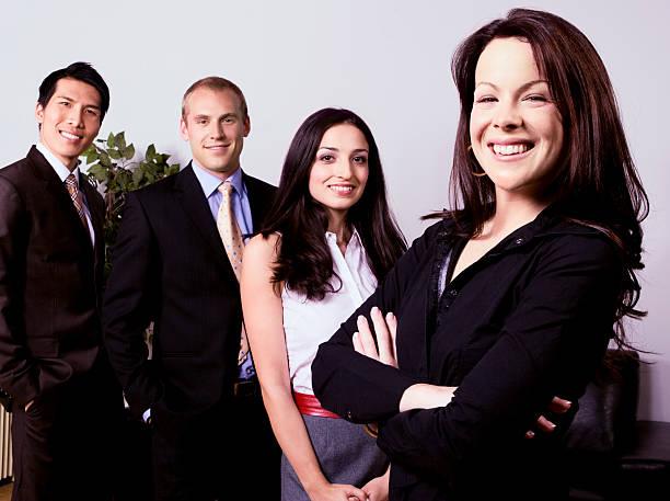 Female Business Team Leader stock photo