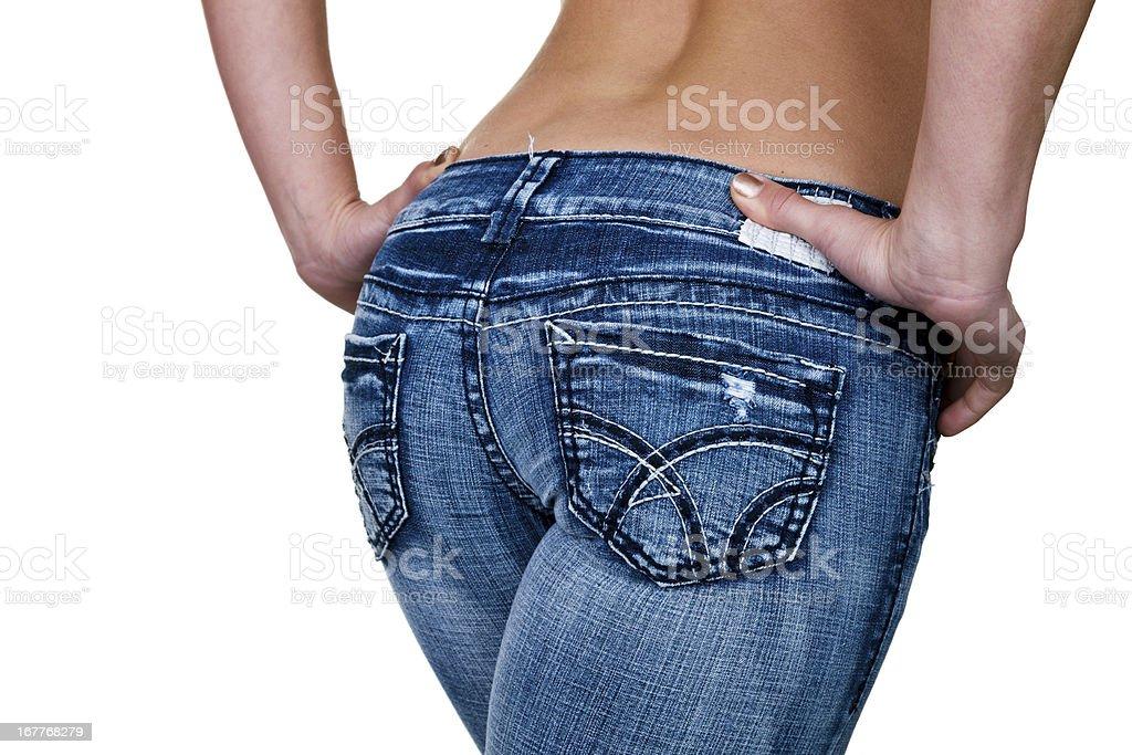 Female buttocks stock photo