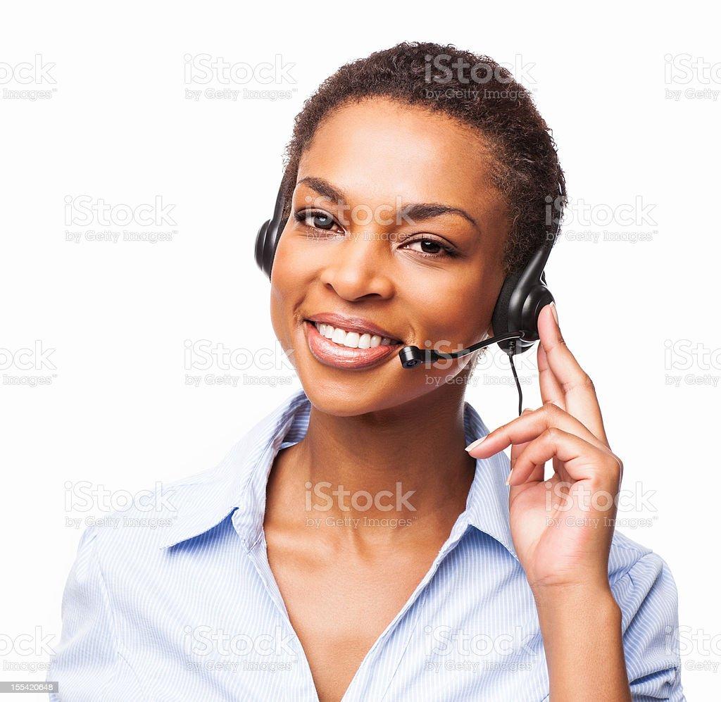 Female Call Center Executive  - Isolated royalty-free stock photo