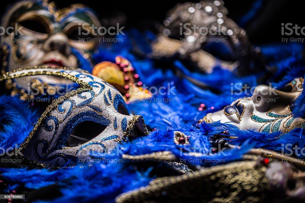 Female carnival mask stock photo