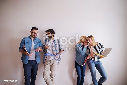 istock Female carpenter working in workshop. Female doing male's work concept. 1072250238