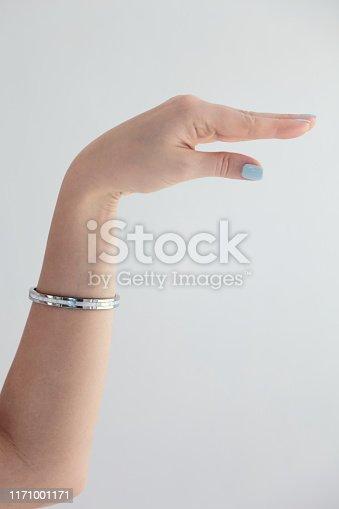 Female caucasian hand gestures