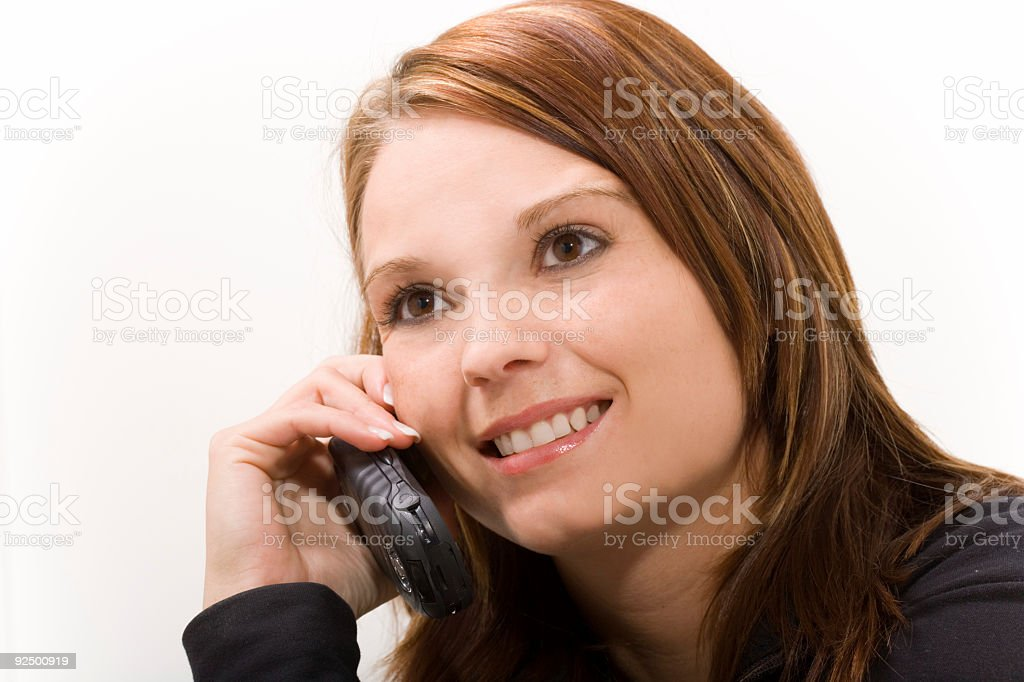 Female / Cell Phone royalty-free stock photo