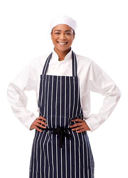 female chef isolated stock photo