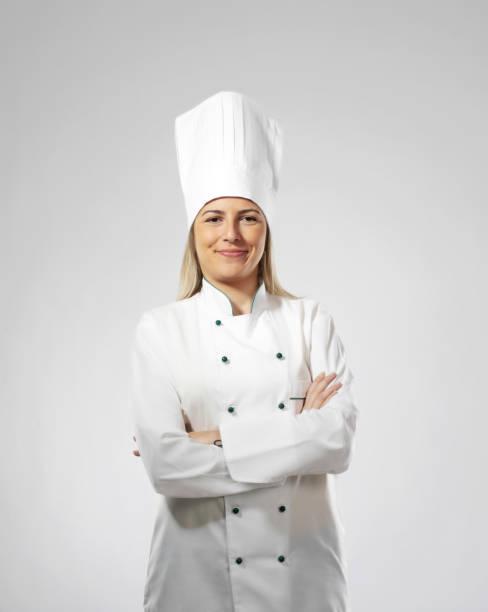 Weibliches Kochporträt – Foto