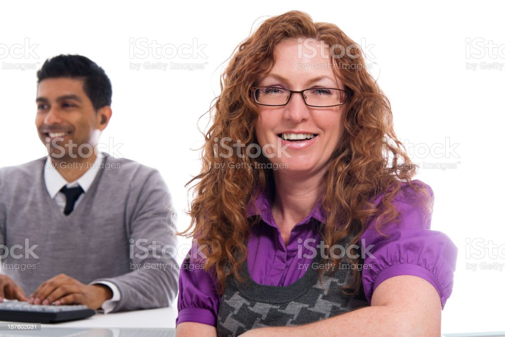 Female Client Looking at the Camera royalty-free stock photo