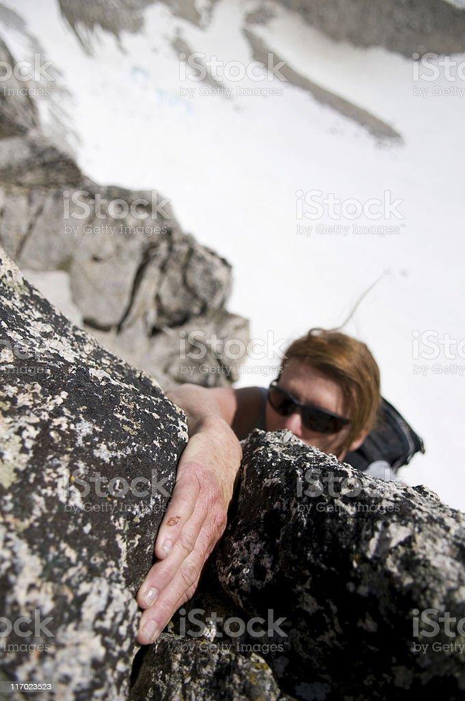 female climber royalty-free stock photo
