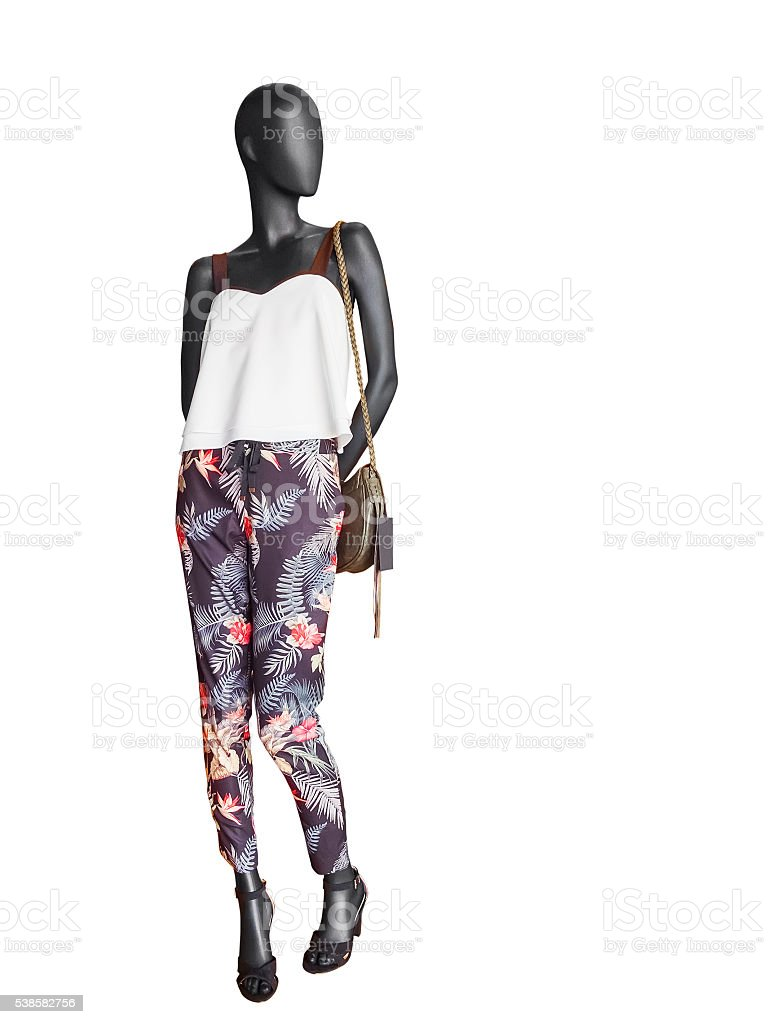 Female clothing on a mannequin stock photo