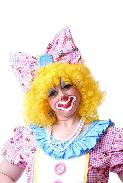 Female Clown in Full Costume stock photo