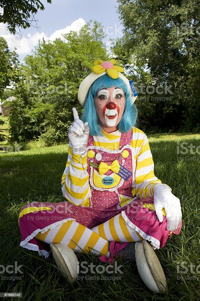 Female Clown royalty-free stock photo